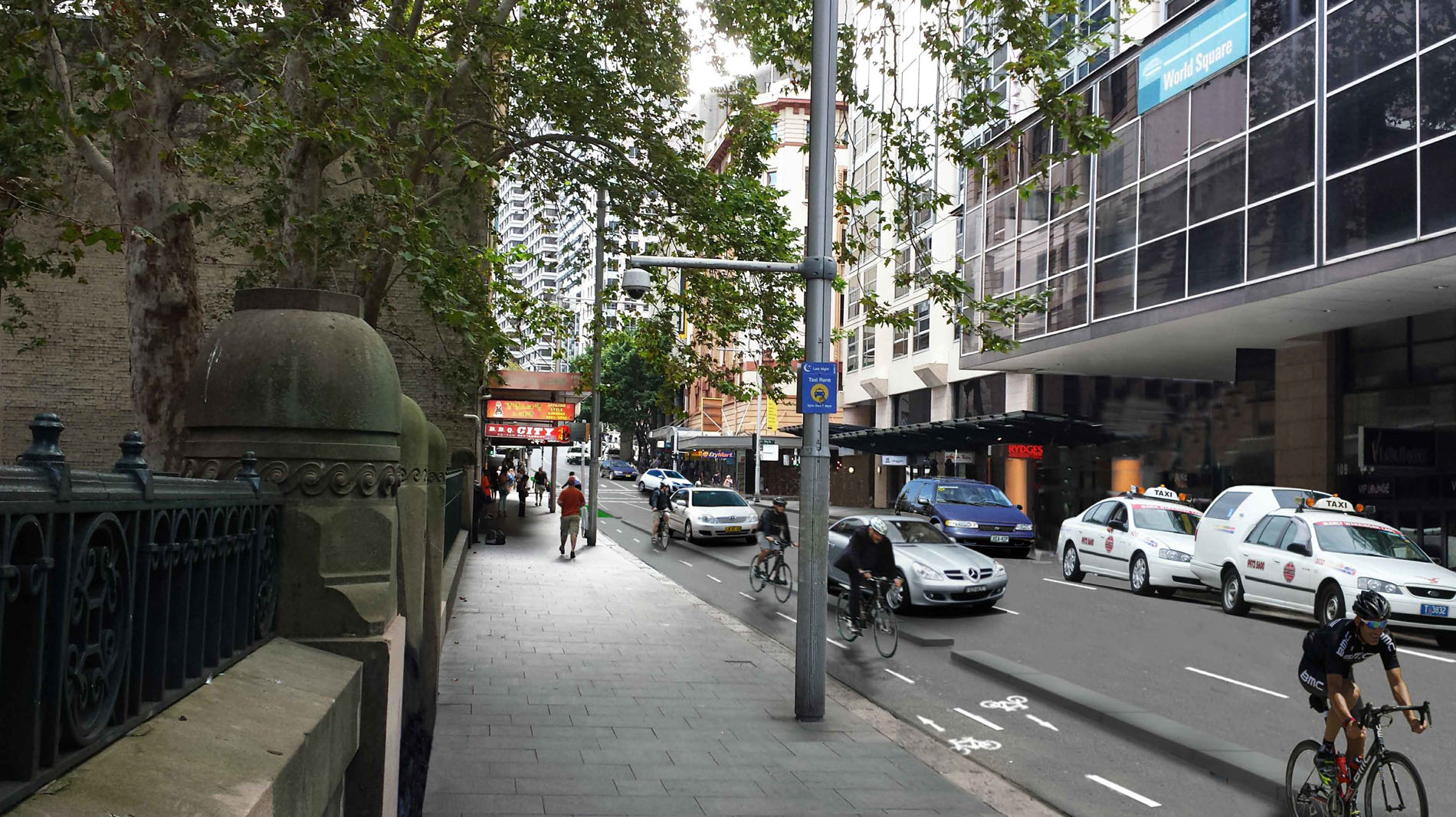 Liverpool St and Castlereagh St Cycleway